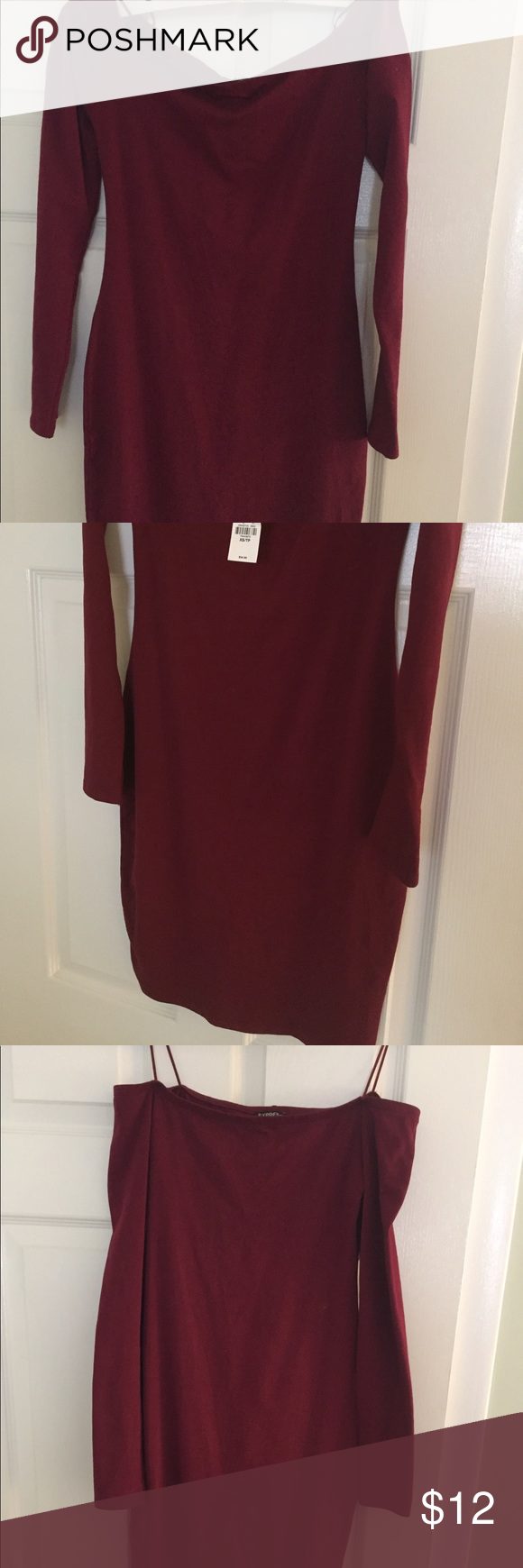 Off the shoulder express dress xs new with tags express dresses