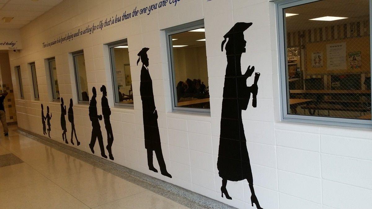 School hallway murals google search high school murals for Easy wall mural