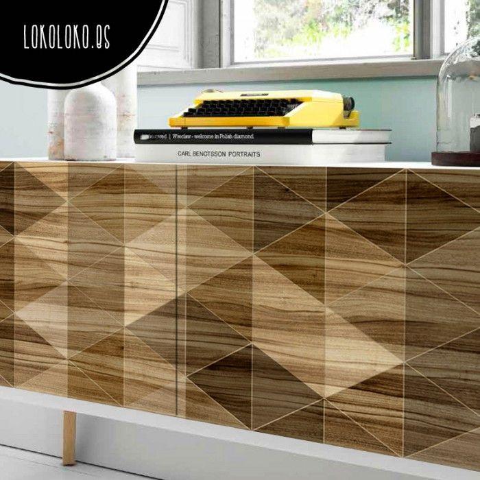 Madera geom trica 2 decoraci n de muebles madera for Muebles imitacion diseno