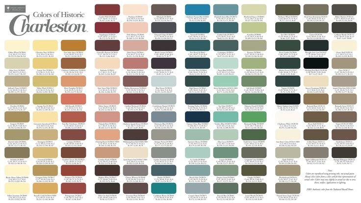 Historic Charleston Colors Historic Paint Colours Historic Paint Sherwin Williams Colors