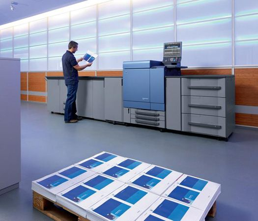 The Konica Minolta Bizhub PRESS C8000 Is A High Speed Color Digital Press That Offers Quality Prints To Rival Costly Offset Printing