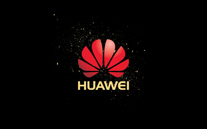 Download Wallpapers Huawei Black Background Logo Besthqwallpapers Com Huawei Turn Ons Party Apps