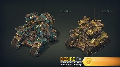 Mech Constructor: Spiders and Tanks 3D Models  http://www.desirefx.me/mech-constructor-spiders-and-tanks-3d-models/