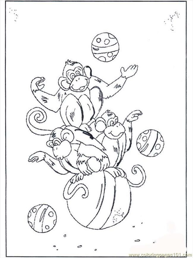 Coloring Pages Of Monkeys Free Printable Coloring Page Monkey On Ball B2072 Animals Monkey Monkey Coloring Pages Coloring Pages Printable Coloring Pages