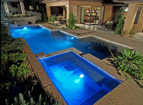 A Few Things About Pools Styles And Shapes Geometric Pool Backyard Pool Designs Pool Designs