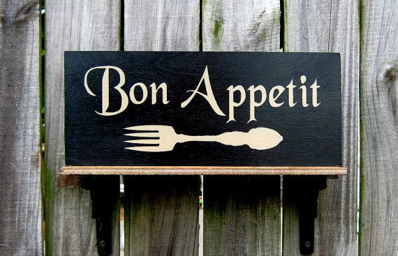 Bon Appetit Sign Food Kitchen Dining Gloss By SuzsCountryPrims, $14.00