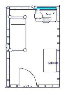 Dorm Room Plan Dimensions