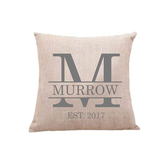 Monogrammed Custom Pillow Case Throw Pillow Cover Decorative