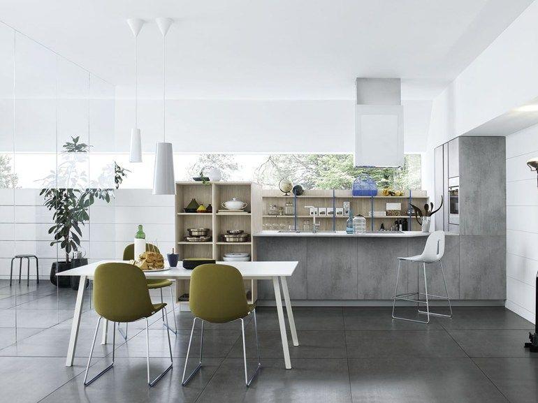 Cocina integral con península MILA 04 by CESAR ARREDAMENTI | diseño Gian Vittorio Plazzogna