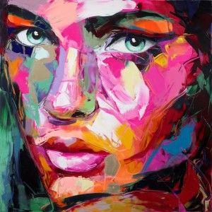 Pintura Co Nespátula Cuadros De Arte Retrato Abstracto Rostros De Arte