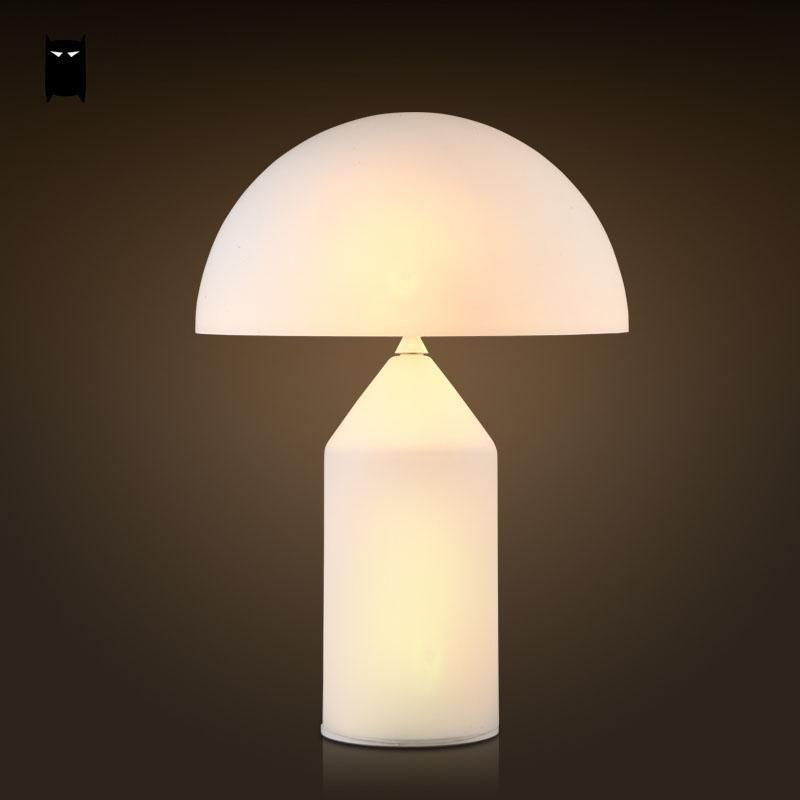 Milky white glass mushroom shade table lamp fixture nordic desk milky white glass mushroom shade table lamp fixture nordic desk light bedroom aloadofball Image collections