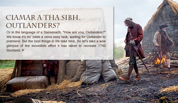 Latha math dhuibh, Outlanders! Newsletter update from Starz!