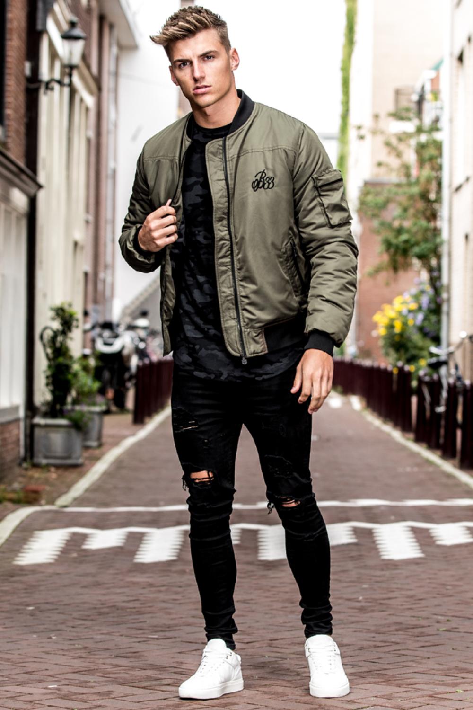 Anderson Bomber Jacket Khaki Mens Bomber Jacket Outfit Jackets Men Fashion Bomber Jacket Fashion [ 1500 x 1000 Pixel ]