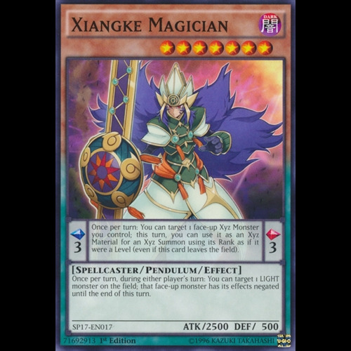SP17-EN017 Xiangke Magician 1st Edition Mint YuGiOh Card