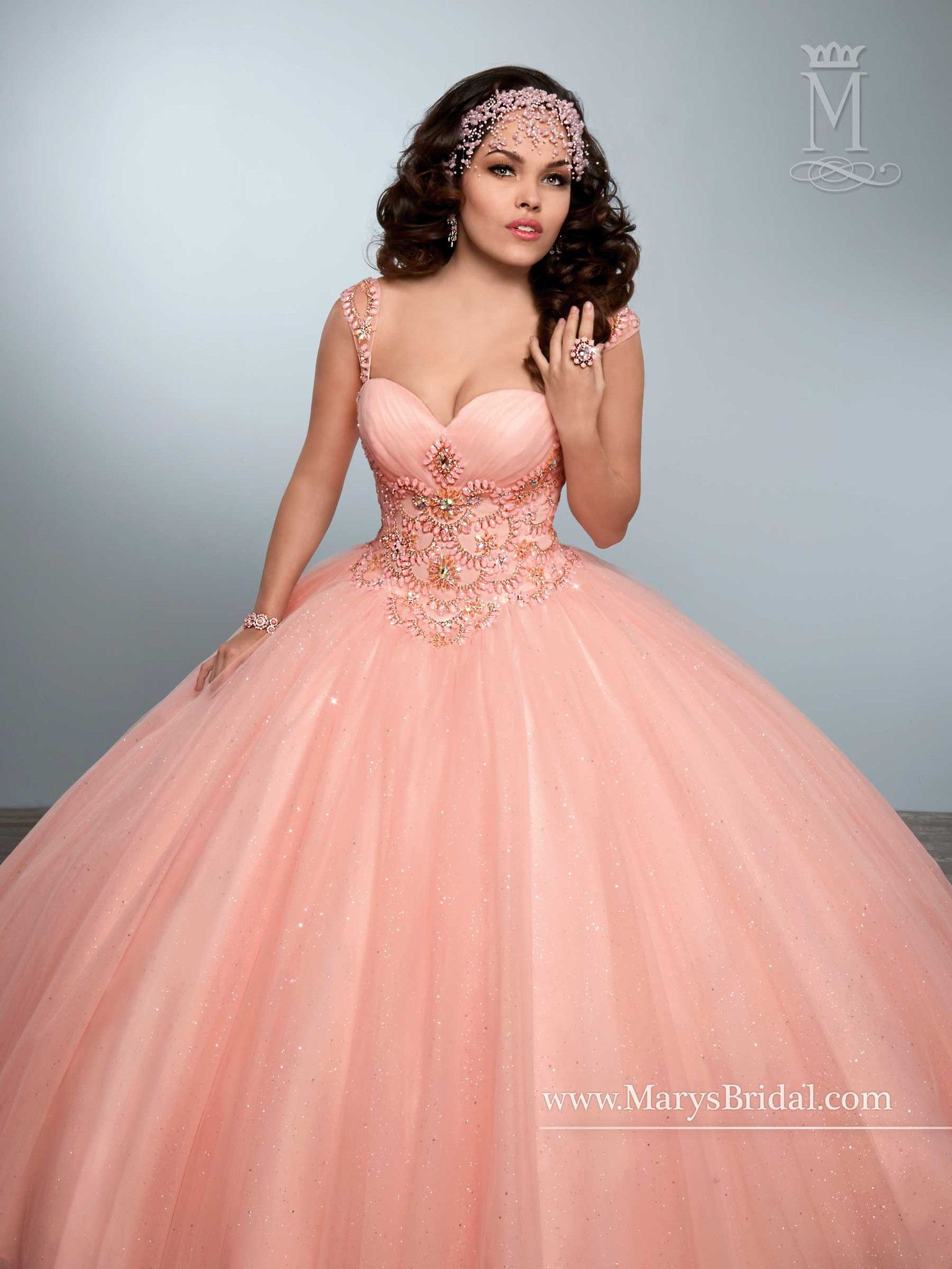 Mary\'s Bridal Princess Collection Quinceanera Dress Style 4Q436