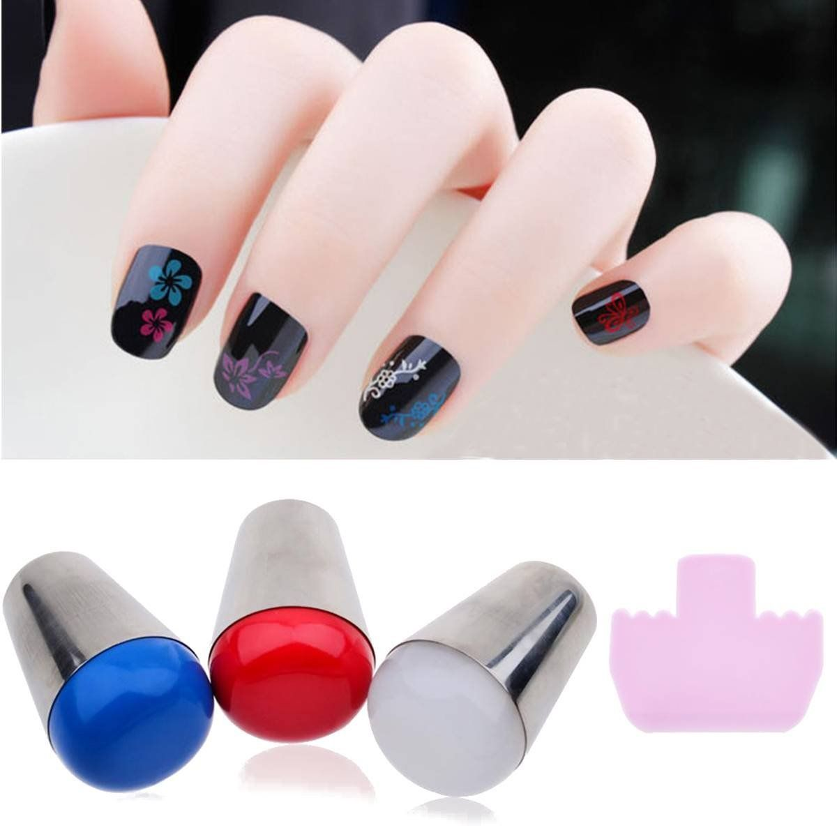 Dancingnail 1pc 4cm Nail Art Big Stamper Marshmallow Round Clear Red Stamp Stamping Tool This Is An Amazon Affiliate Link Nail Stamper Manicure Round Nails