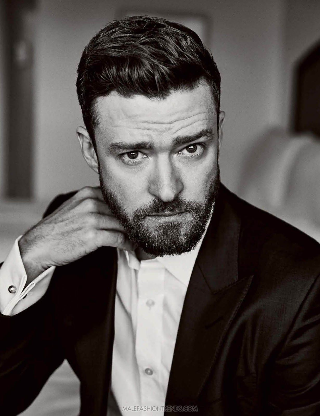 Justin Timberlake para The Hollywood Reporter por Miller Mobley | Beard  styles, Justin timberlake, Heart face shape