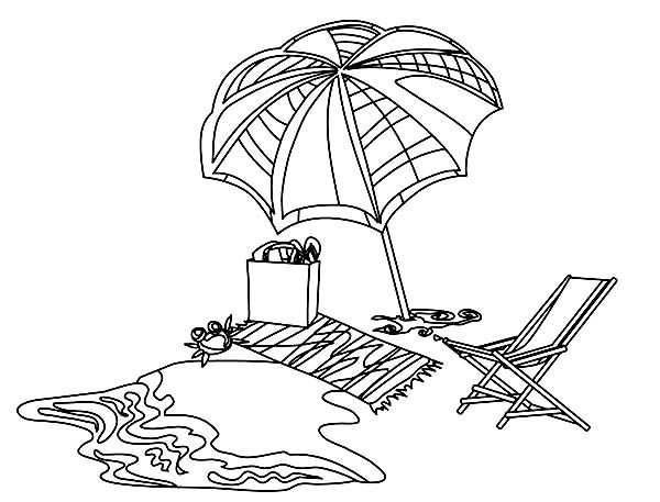 Beach Vacation, : A Complete Beach Sets to Relax Coloring ...