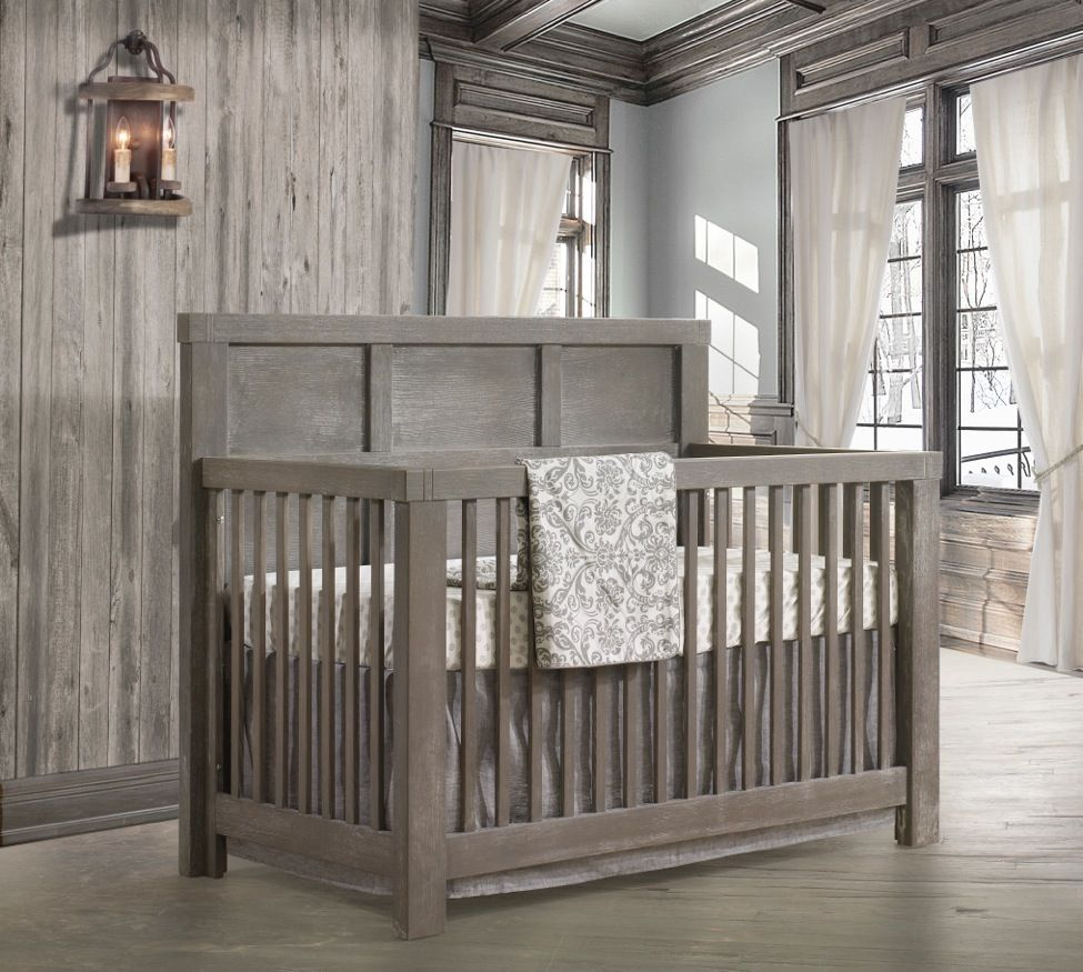 "Everything We Know About Beyonce S Nursery Design Ideas: Gray Linen Crib Skirt 16"" Drop"