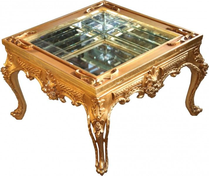 Prunkvoller Casa Padrino Barock Couchtisch Gold verspiegelt mit