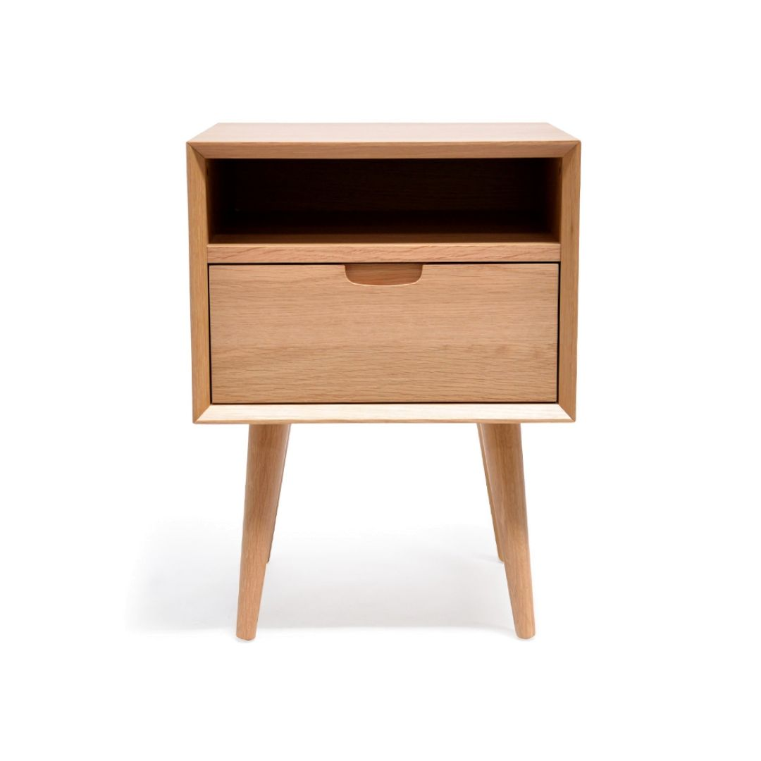 Asta Sq Wooden Bedside Table Rooms Wooden Bedside