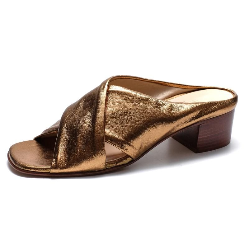 730f1a6c7230 Celine Sandals in Copper – LOU.EARL