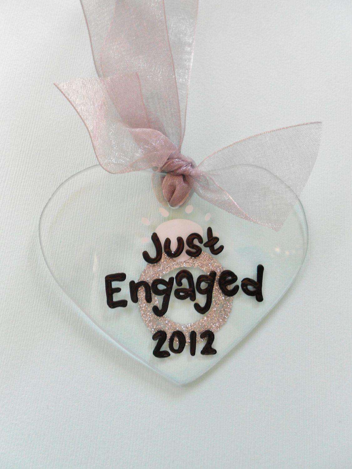 Just engaged christmas ornament how cute wedding pinterest