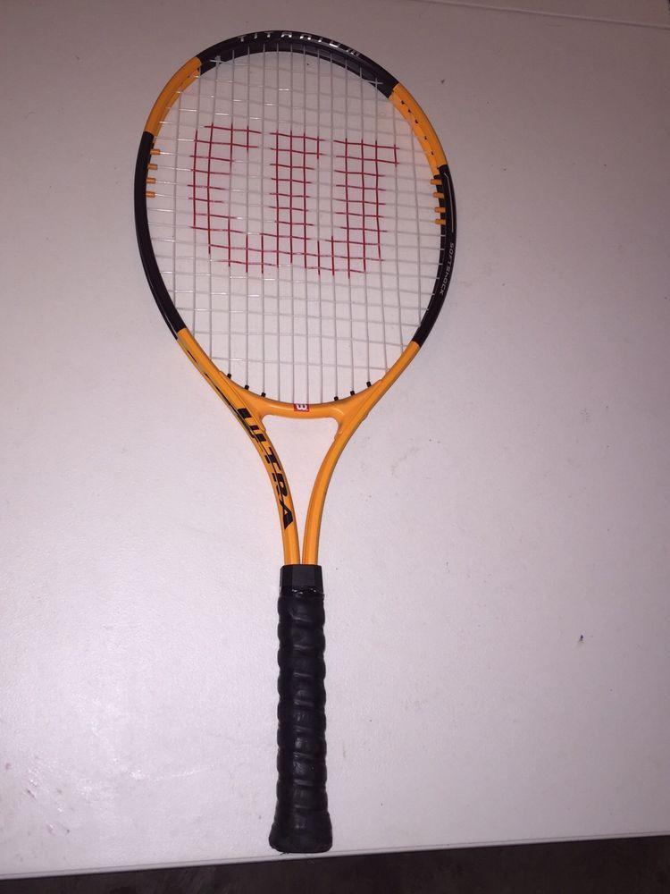 Orange Wilson Ultra Titanium Soft Shock 50 60lb Tension Tennis Racquet Used Ebay Tennis Racquet Racquets Tennis