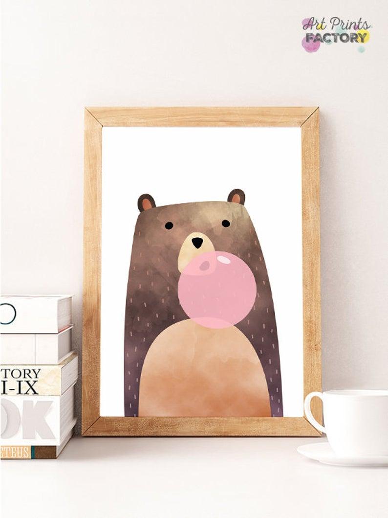 bear nursery wall decor on bear bear print bear gum bear poster nursery woodland art etsy in 2021 bear wall art bear nursery art nursery art pinterest