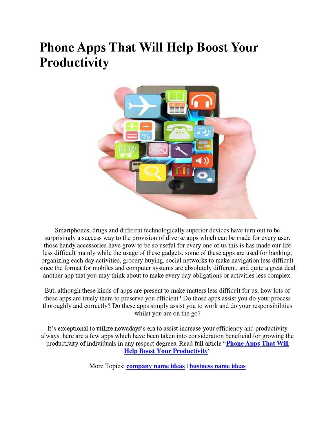 Phone apps that will help boost your productivity
