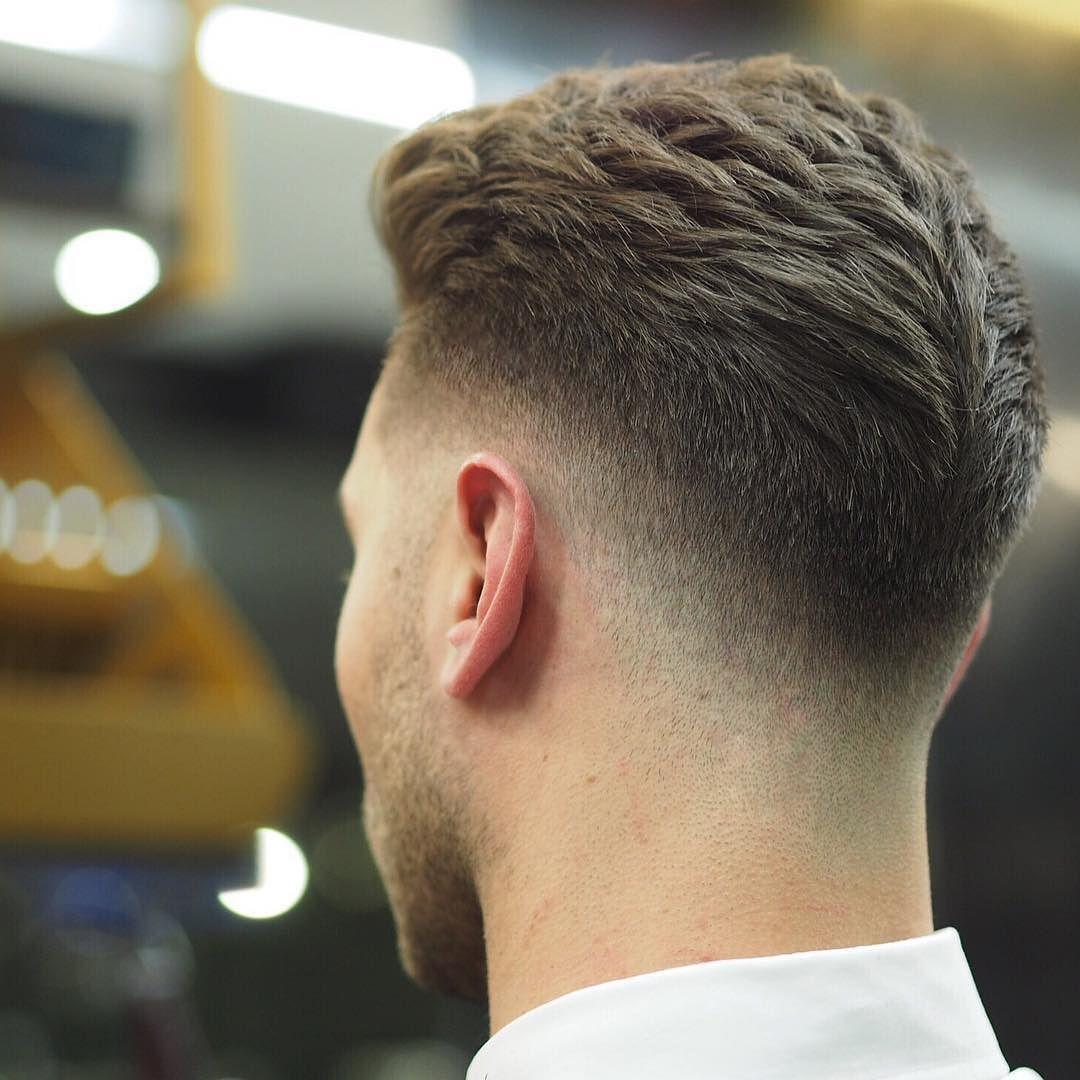 mens medium hairstyles back view