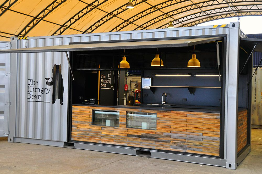 The Hungry Bear Container Cafe Hits Sydney Em 2020 Ideias De Bar Projeto Casa Container Contentores