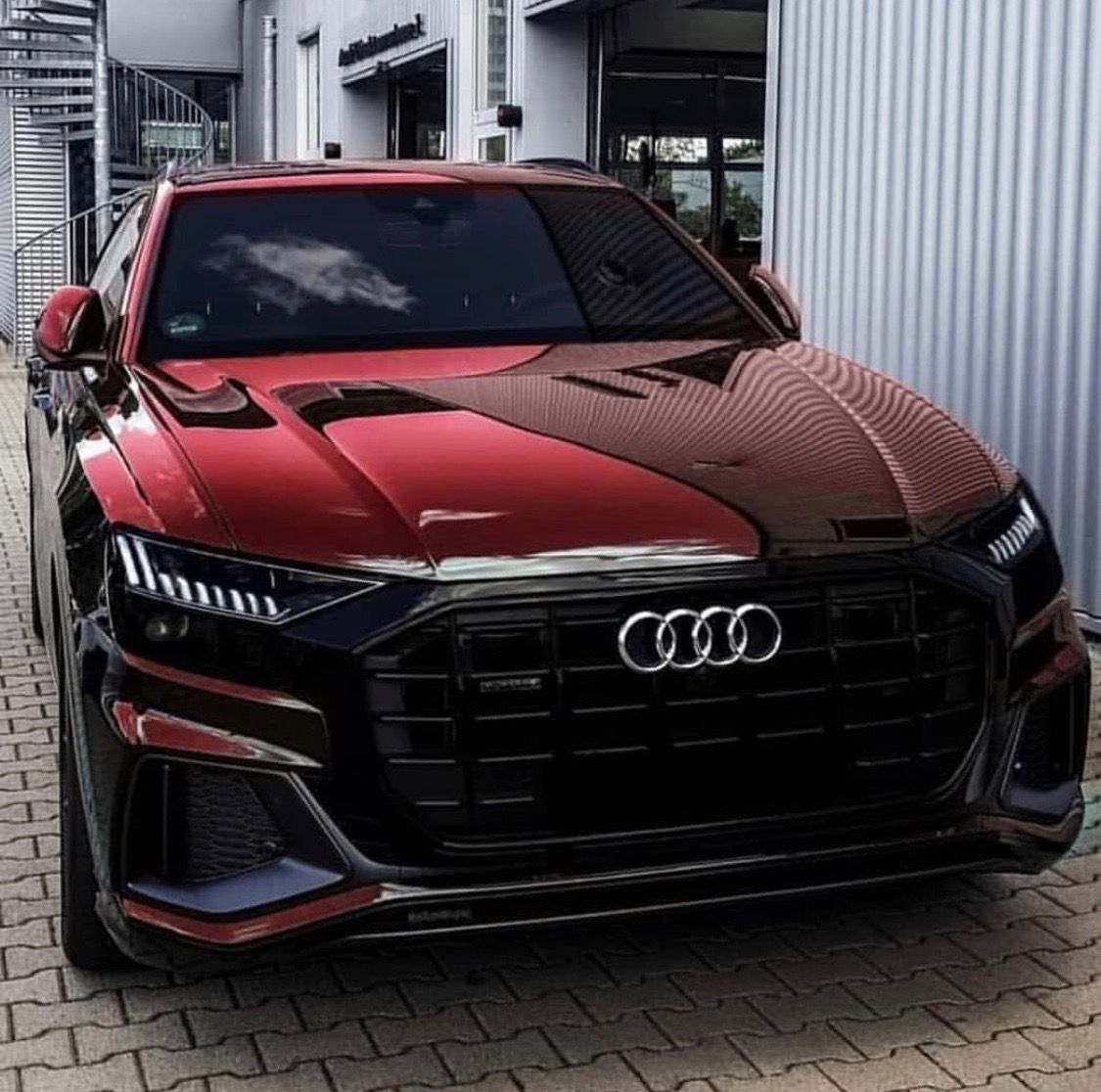 2019 Audi Q8 The Red Beast With Images Luxury Cars Audi Dream