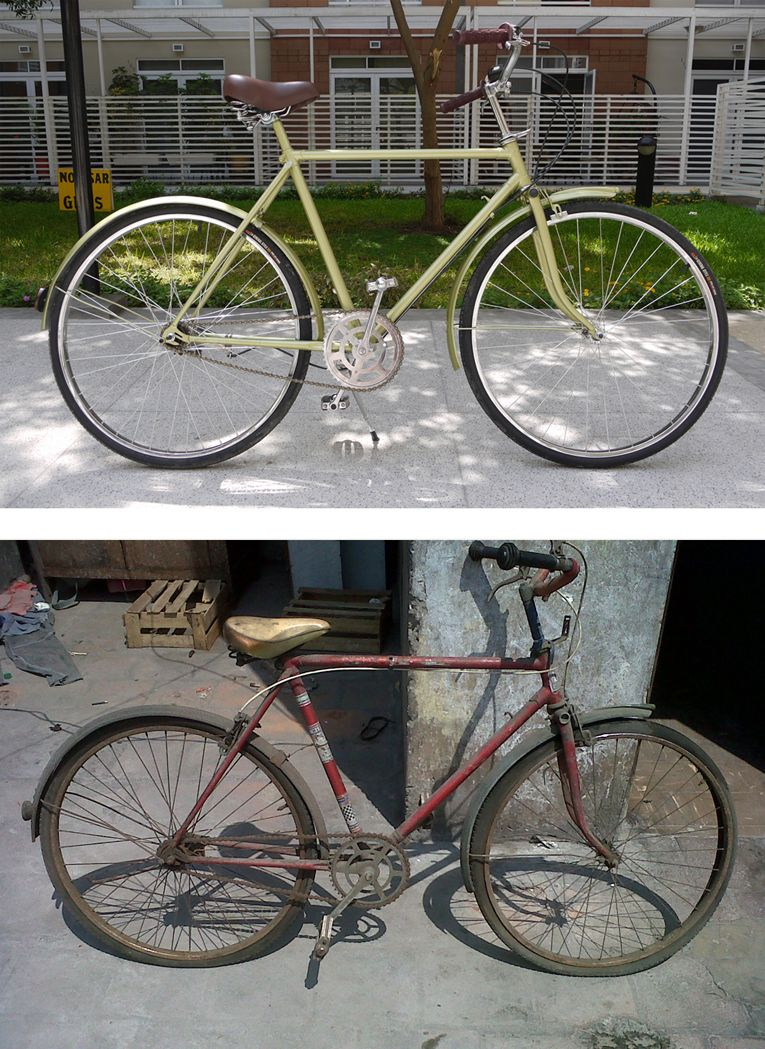 After Before My Old Bicycle Restored Bike Restoration Bmx