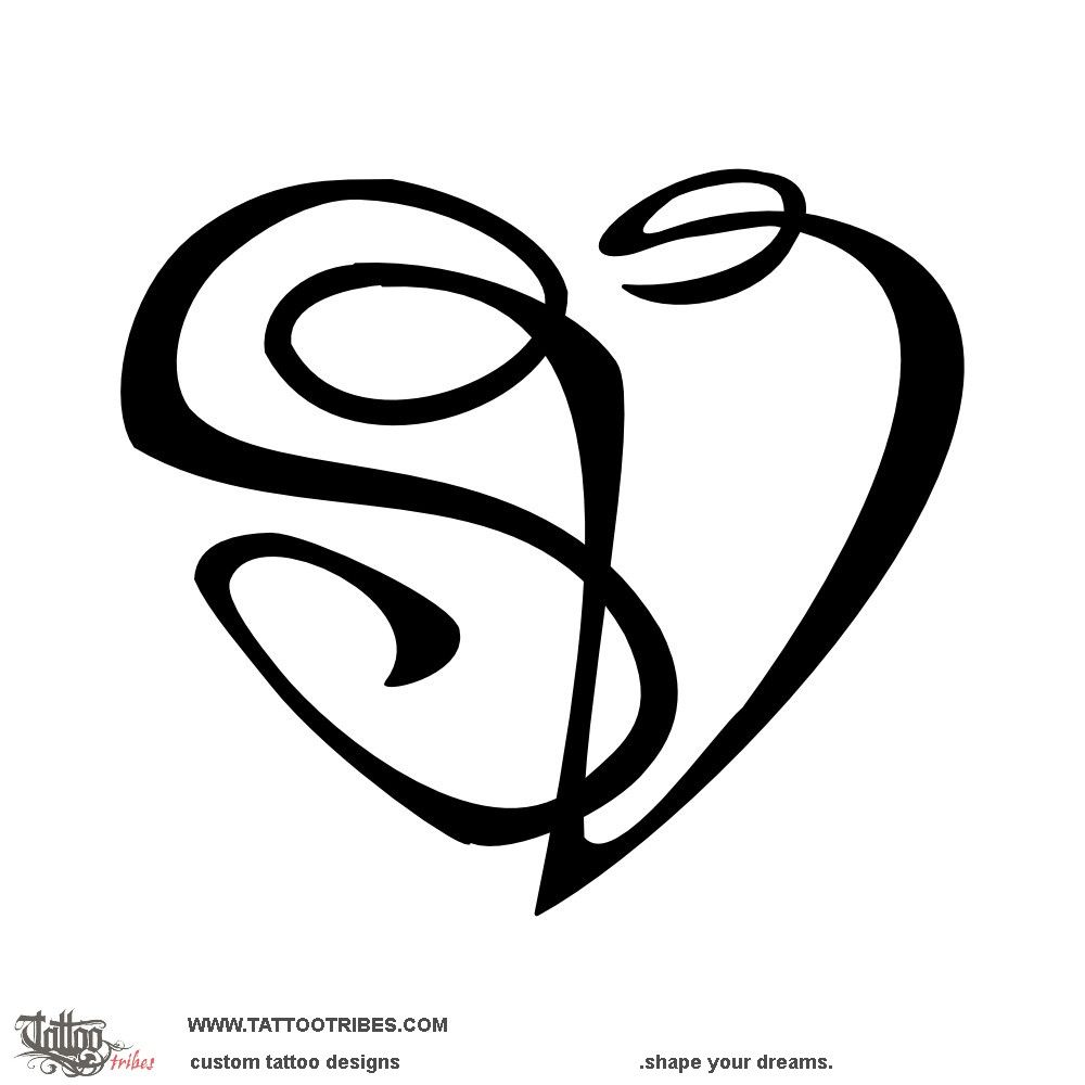 S V Heartigram Union This Heart Tattoo Was Created With A Single Line That Designes The Letters S V Tattoo Lettering Union Tattoo Tattoo Designs And Meanings