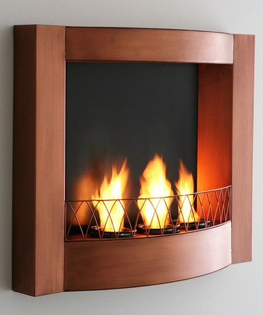 Copper Wall Mount Fireplace Wall Mounted Fireplace Indoor
