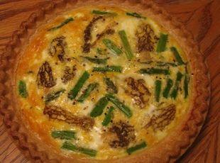 Yum... Id Pinch That! | Nonna Rosas Morel and Asparagus Quiche