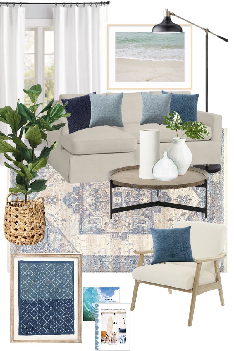 A Coastal Living Room Design Plan - New Home, New Look