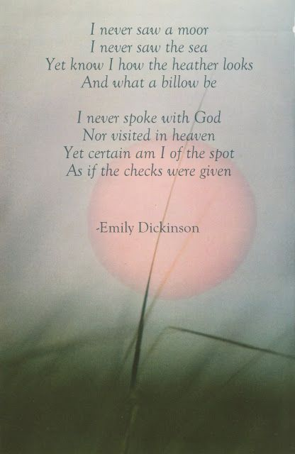 emily dickinson research paper This paper discusses how the vision of emily dickinson's poetry is focused on the identification of man's relation with reality mainly in the pursuit of the meaning of death.