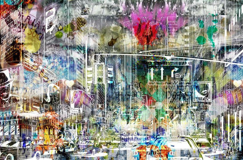Cartoon City Graffiti City Cartoon Graffiti Graffiti Wallpaper