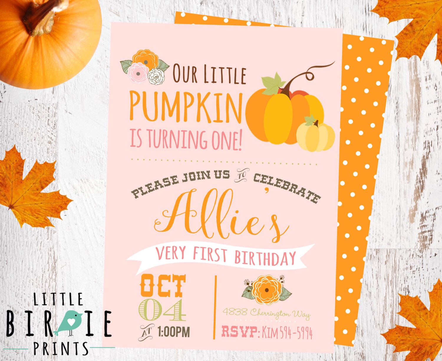 Pin by miranda doub on raelyn 1 year pinterest flower girl pumpkin first birthday invitation our little pumpkin is turning one invitation vintage pink pumpkin flowers girl invitation pumpkin party filmwisefo Image collections