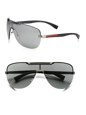 922713d44c ... sale prada metal shield sunglasses mens eyewear prada mens style male  style mens f79ab ea72d