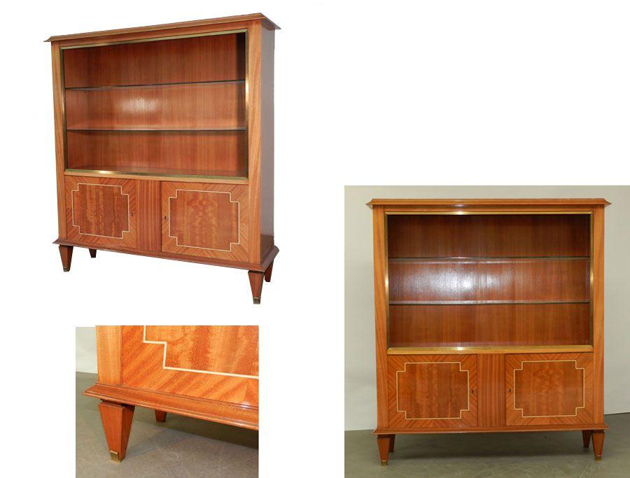 Ad 446 Vitrine Art Deco En Acajou 1940 Art Deco Meubles De Rangement Deco