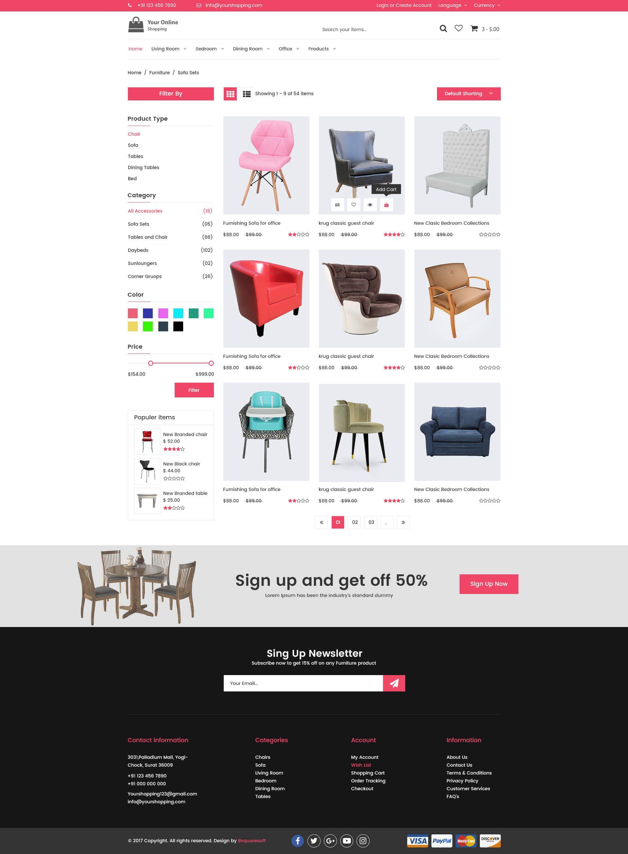 Online Shopping PSD Template Psd templates