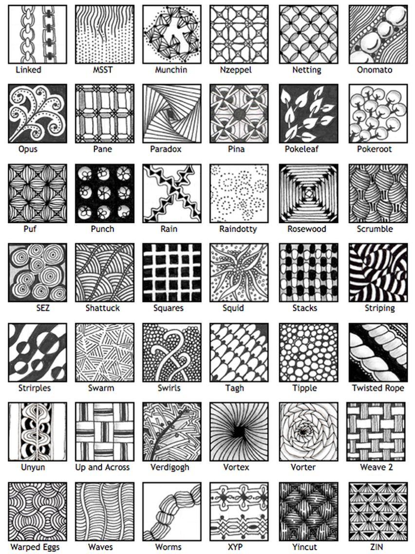 Official Zentangle Patterns Interesting Design