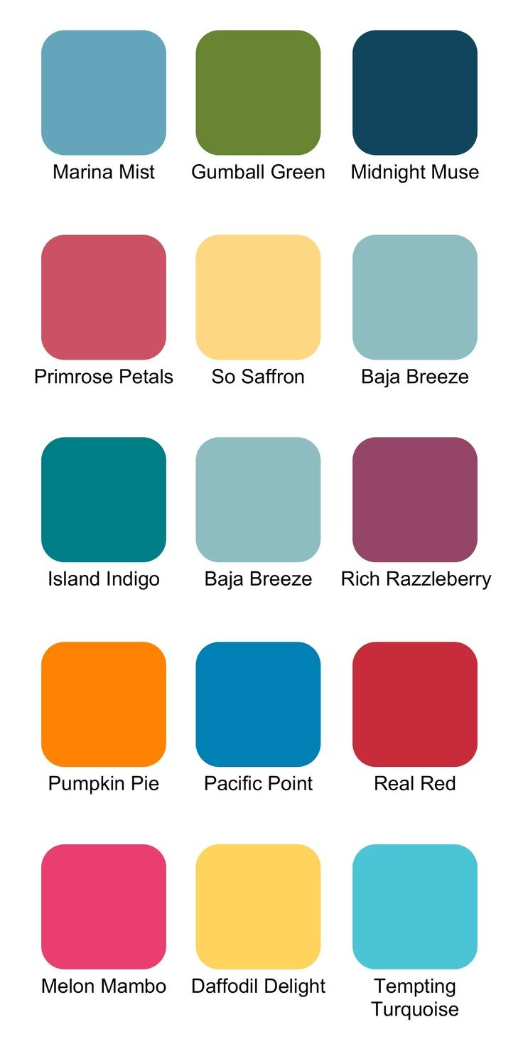 Stampin Up! Color Combinations for Summer