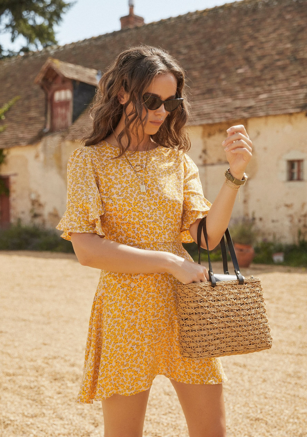 Dean Elodie Mini Dress Yellow Auguste The Label Picnic Outfits Dresses Yellow Dress [ 1421 x 1000 Pixel ]