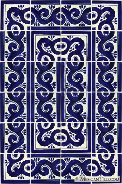 Decorative Mexican Tiles Mexican Tile  Decorative Talavera Tile Set  X7024  Pointe