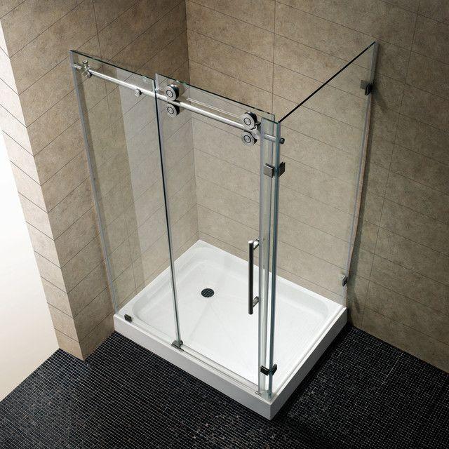 VIGO 36 X 48 Frameless Clear Right Shower Enclosure With Base   Overstock™  Shopping   Big Discounts On Vigo Shower Doors
