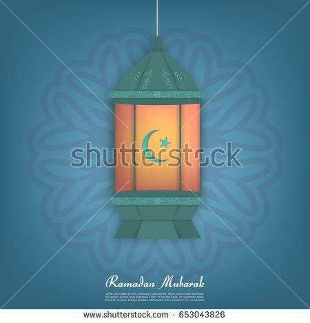 Ramadan Kareem. Vector design for Islamic or Muslim traditional religious holiday celebration.